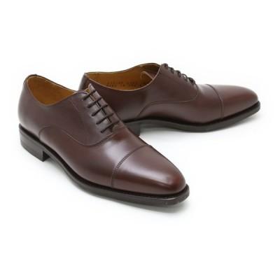 ビジネスシューズ 本革 ストレートチップ キャップトゥ メンズ 革靴 本革 クインクラシコ ドレスシューズ 2739ddbr ダークブラウン(茶色) キャップトゥ