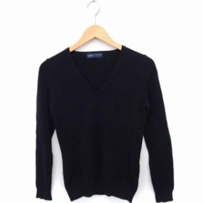 【中古】ボディードレッシング BODY DRESSING ニット セーター Vネック 長袖 無地 シンプル ウール 9 ブラック 黒 /FT
