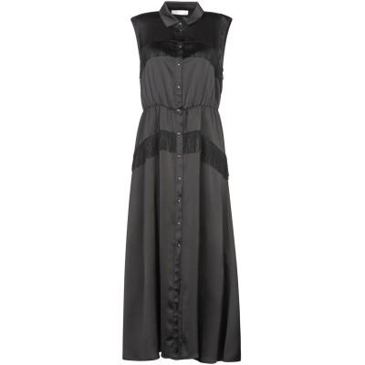 PAOLO CASALINI 7分丈ワンピース・ドレス ブラック XS ポリエステル 100% 7分丈ワンピース・ドレス