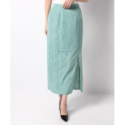 【シェリーモナ】 フラワーIラインスカート レディース GREEN S Cherie Mona