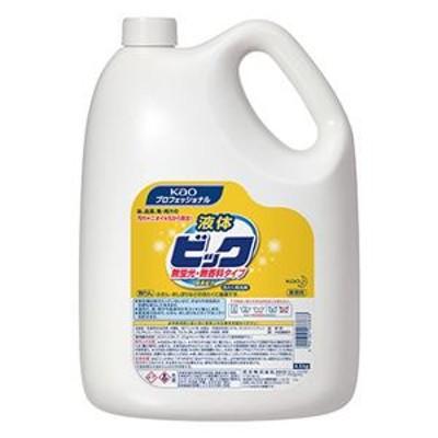 (まとめ)花王 液体ビック 無蛍光・無香料 4.5kg 1本【×2セット】