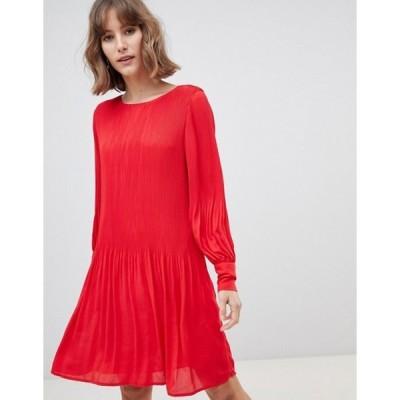 セレクティッド レディース ワンピース トップス Selected femme plisse smock dress
