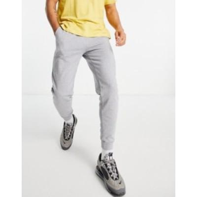 エイソス メンズ カジュアルパンツ ボトムス ASOS DESIGN organic tapered sweatpants in gray marl Gray heather