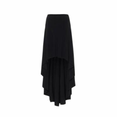 ノーマ カマリ Norma Kamali レディース ひざ丈スカート スカート Hi Low stretch-jersey midi skirt Black