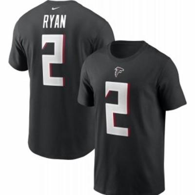 ナイキ Nike メンズ Tシャツ トップス Atlanta Falcons Legend Matt Ryan #2 Black T-Shirt