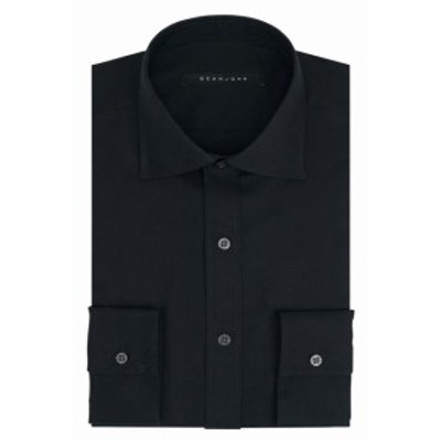 Sean  ファッション ドレス Sean John Mens Black 16 1/2 Classic Fit Button Up Woven Dress Shirt