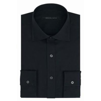 Sean  ファッション ドレス Sean John Mens Black 16 1/2 Classic Fit Button Up Woven Dress Shirt