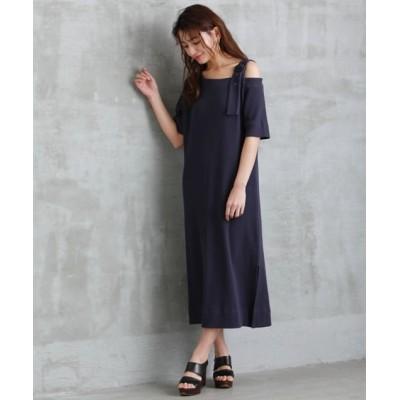 【大きいサイズ】 ローズファンファン ワンショル風カットソーワンピース ワンピース, plus size dress