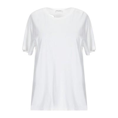 SAINT LAURENT T シャツ アイボリー XS コットン 100% T シャツ