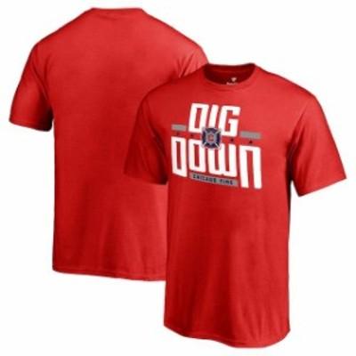 Fanatics Branded ファナティクス ブランド スポーツ用品  Fanatics Branded Chicago Fire Youth Red Fire Flag T-Shirt