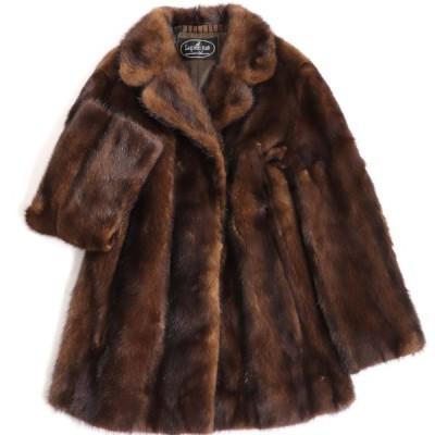 毛並み美品▼LUPIAN FURS MINK ルピアンファーズ ミンク 本毛皮コート ブラウン 毛質艶やか・柔らか◎