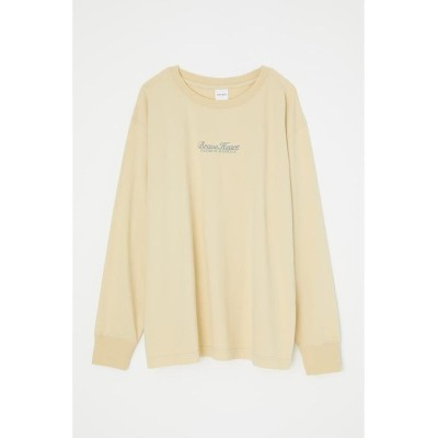(moussy/マウジー)FLOWER PICTURE BOOK LS Tシャツ/レディース L/YEL1