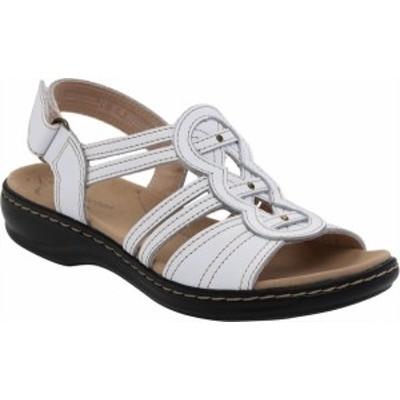 クラークス レディース サンダル シューズ Women's Clarks Leisa Janna Slingback Sandal White Full Grain Leather