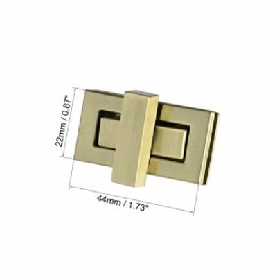 uxcell 海外出荷 長方形の財布 ツイストロッククラッチクロージャー DIY製袋用 1セット ブラスブラス 44mmx22mm