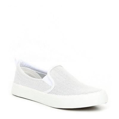 スペリー レディース スニーカー シューズ Crest Twin Gore Mini Perforated Leather Slip-On Sneakers