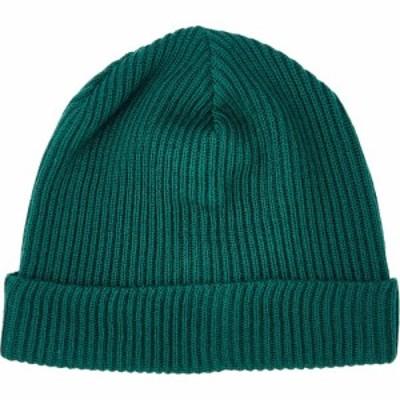 ポルトラーノ Portolano メンズ ニット 帽子 Ribbed Cuff Beanie - Merino Wool Amazon Green