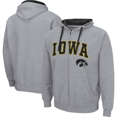 """メンズ パーカー """"Iowa Hawkeyes"""" Colosseum Arch - Logo 2.0 Full-Zip Hoodie - Heathered Gray"""