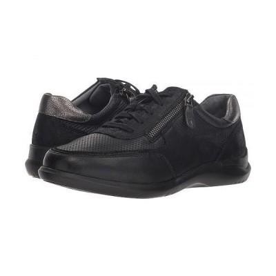 Aravon アラヴォン レディース 女性用 シューズ 靴 スニーカー 運動靴 Power Comfort Tie w/ Side Zip - Black