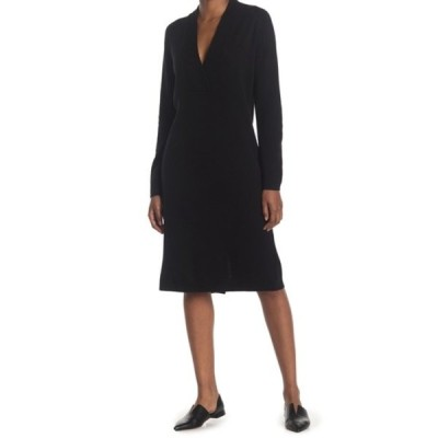 クラブ モナコ レディース ワンピース トップス Cross Front Sweater Dress BLACK