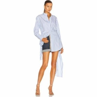 モンス Monse レディース ブラウス・シャツ トップス Striped Drawstring Shirt Boardwalk Stripe