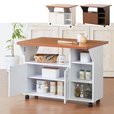 ワゴンラック デスク キャスター付き キッチン収納 ウッド ワゴン 木製 ナチュラル カフェ風 木製ラック おしゃれ 机