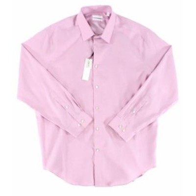 Calvin Klein カルバンクライン ファッション ドレス Calvin Klein Mens Pink Size 18 Regular Fit Performance Dress Shirt