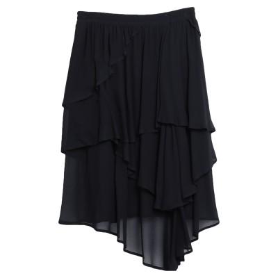 8PM ひざ丈スカート ブラック M レーヨン 100% ひざ丈スカート