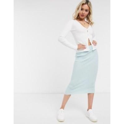 エイソス レディース スカート ボトムス ASOS DESIGN knitted midi skirt in mint - part of a set Mint