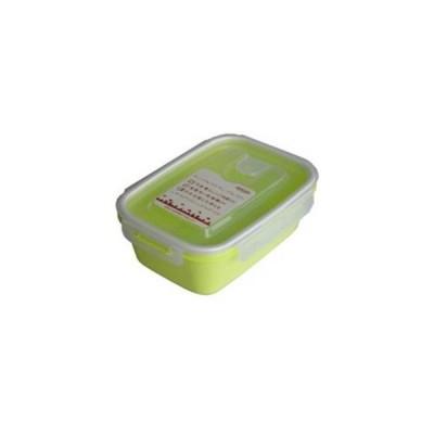 岩崎工業  保存容器 スマートフラップ&ロックス 900ml(L) 1P グリーン