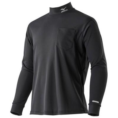 ミズノ ハイドロ銀チタンワークシャツ長袖[メンズ] 09ブラック M ウエア ハイネックシャツ 半袖 F2JA9181