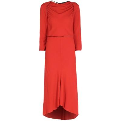 マルニ MARNI 7分丈ワンピース・ドレス レッド 42 58% レーヨン 42% アセテート 7分丈ワンピース・ドレス