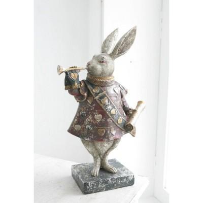 トランプウサギ BK-03 YY CL2 COVENT GARDEN 置物 動物 アニマル うさぎ ラビット ウサギ 不思議の国のアリス アリス ハート トランプ シャビー アンティーク