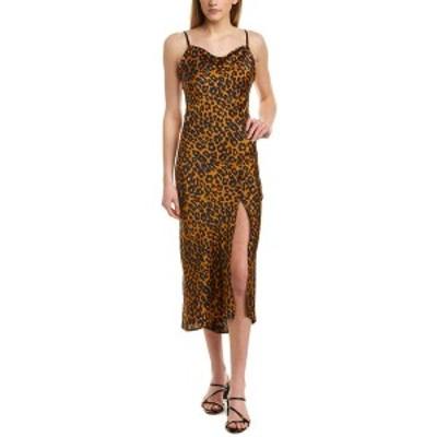 エティエンヌ マルセル レディース ワンピース トップス Etienne Marcel Printed Maxi Dress brown leopard