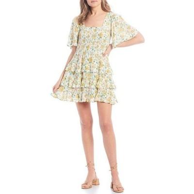 チェルシーアンドバイオレット レディース ワンピース トップス Floral Print Tiered Dress