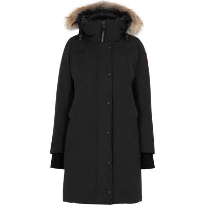 カナダグース Canada Goose レディース コート アウター Sherbrooke fur-trimmed Arctic-Tech parka Black