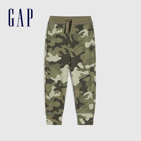 Gap男幼童 布萊納系列 迷彩時尚休閒運動褲 673732-綠色迷彩