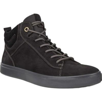 エコー スニーカー シューズ メンズ Kyle Hi-Top Water Resistant Sneaker (Men's) Black/Black Nubuck/Suede