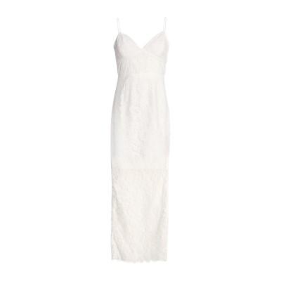 NICHOLAS ロングワンピース&ドレス ホワイト 2 コットン 60% / レーヨン 23% / ナイロン 17% ロングワンピース&ドレス