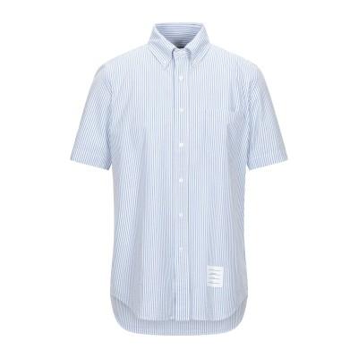 トム ブラウン THOM BROWNE シャツ スカイブルー 1 コットン 100% シャツ