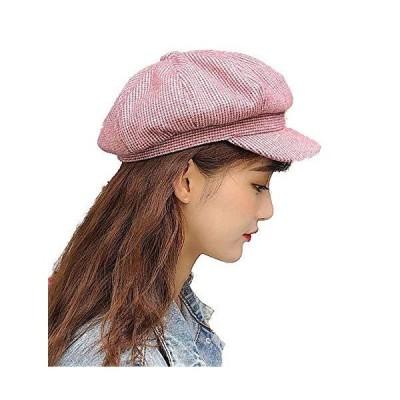 Referica レディース 帽子 千鳥格子柄 カラー キャスケット ピンク