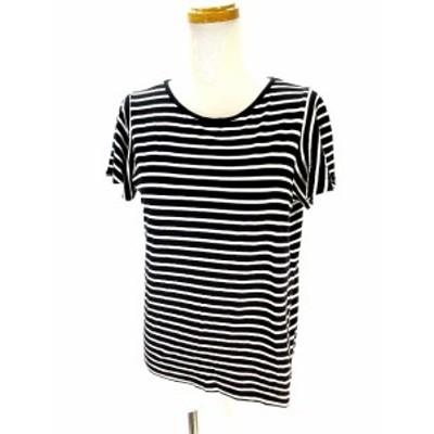【中古】イーストボーイ EAST BOY Tシャツ カットソー 半袖 ボーダー 白 黒 ホワイト ブラック 11 レディース