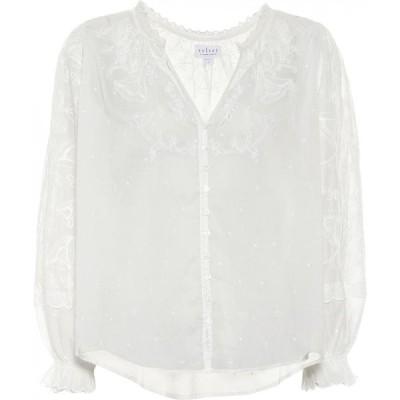 ベルベット グラハム&スペンサー Velvet レディース ブラウス・シャツ トップス Gala Embroidered Cotton Blouse White