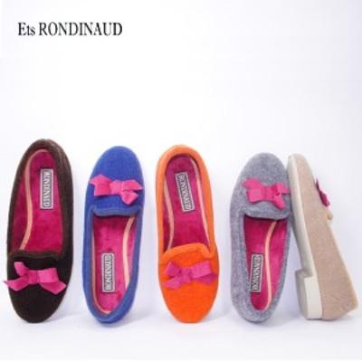 (OUTLET) Est. RONDINAUD ロンディーノ ウールフェルトリボンパンプス R14 (フランス製) (正規販売店)