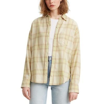 リーバイス ニット&セーター アウター レディース Cotton Relaxed Flannel Shirt Koronis Almond Milk