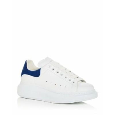 アレキサンダー・マックイーン レディース スニーカー シューズ Women's Oversized Suede Heel Detail Sneakers White/Navy