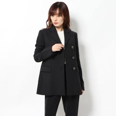 リネーム Rename 三つボタンジャケット風コート (ブラック)