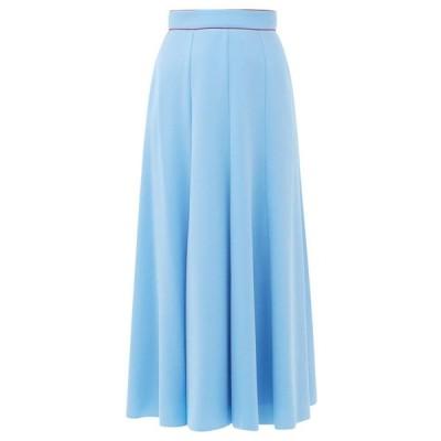 ロクサンダ Roksanda レディース ひざ丈スカート スカート Nusa crepe midi skirt Blue
