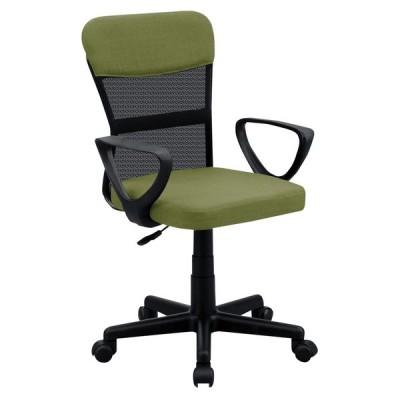 送料無料  オフィスチェア ガス圧昇降機能付   メッシュチェア イス 椅子 チェアー 1人掛け 肘付き メッシュ グリーン