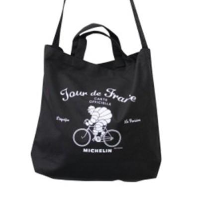 ミシュラン Michelin 2Way tote bag/Tour de France/Black ビバンダム 車 バイク アメリカン雑貨