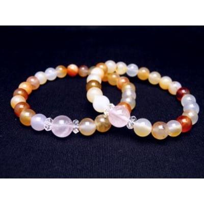 ペアブレスレット パワーストーン 踏み出す勇気 ペアブレスレット メンズ/レディース 天然石の数珠(腕輪念珠) ブレスレット ギフトにも